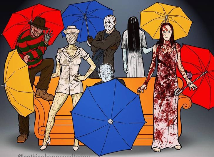 Фото №1 - Тайная жизнь Бэтмена, Дарта Вейдера, Винни Пуха и других персонажей— в рисунках Эда Харрингтона