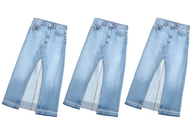 Фото №2 - Дорого-дешево: Джинсовая юбка