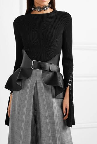 Фото №16 - Как носить баски и широкие пояса (и где искать самые модные)